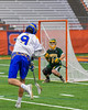 Cazenovia Lakers Thomas Bragg (9) shoots and scores against the LaFayette Lancers in Section III Boys Class C Lacrosse Championship action at the Carrier Dome in Syracuse, New York on Saturday, May 28, 2016.  Cazenovia won 11-9.