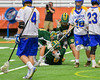 LaFayette Lancers players congratulate Jordyn Marchiano's (8) goal against the Cazenovia Lakers in Section III Boys Class C Lacrosse Championship action at the Carrier Dome in Syracuse, New York on Saturday, May 28, 2016.  Cazenovia won 11-9.