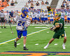 Cazenovia Lakers Cole Willard (24) cradling the ball against a LaFayette Lancers defender in Section III Boys Class C Lacrosse Championship action at the Carrier Dome in Syracuse, New York on Saturday, May 28, 2016.  Cazenovia won 11-9.