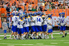 Cazenovia Lakers celebrate their win over the LaFayette Lancers for the Section III Boys Class C Lacrosse Championship at the Carrier Dome in Syracuse, New York on Saturday, May 28, 2016.  Cazenovia won 11-9.