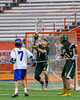 LaFayette Lancers goalie Nate Nicholas (1) makes a save against the Cazenovia Lakers in Section III Boys Class C Lacrosse Championship action at the Carrier Dome in Syracuse, New York on Saturday, May 28, 2016.  Cazenovia won 11-9.