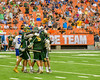 LaFayette Lancers Devon Buckshot (5) is congratulated for his goal against the Cazenovia Lakers in Section III Boys Class C Lacrosse Championship action at the Carrier Dome in Syracuse, New York on Saturday, May 28, 2016.  Cazenovia won 11-9.
