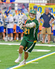 LaFayette Lancers Evan Spratt (21) looking to make a play against the Cazenovia Lakers in Section III Boys Class C Lacrosse Championship action at the Carrier Dome in Syracuse, New York on Saturday, May 28, 2016.  Cazenovia won 11-9.