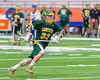 LaFayette Lancers Ty Powless (33) attacking with the ball against the Cazenovia Lakers in Section III Boys Class C Lacrosse Championship action at the Carrier Dome in Syracuse, New York on Saturday, May 28, 2016.  Cazenovia won 11-9.