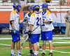 Cazenovia Lakers goalie Brendan Whalen (21) gets congratulated for his goal against the LaFayette Lancers in Section III Boys Class C Lacrosse Championship action at the Carrier Dome in Syracuse, New York on Saturday, May 28, 2016.  Cazenovia won 11-9.