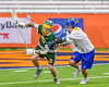 LaFayette Lancers Ryan Agedal (7) being defended by Cazenovia Lakers Dylan Hahn (6) in Section III Boys Class C Lacrosse Championship action at the Carrier Dome in Syracuse, New York on Saturday, May 28, 2016.  Cazenovia won 11-9.