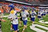 LaFayette Lancers and Cazenovia Lakers shake hands after the Section III Boys Class C Lacrosse Championship game at the Carrier Dome in Syracuse, New York on Saturday, May 28, 2016.  Cazenovia won 11-9.