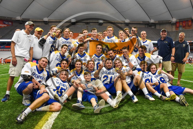 LaFayette Lancers played the Cazenovia Lakers in Section III Boys Class C Lacrosse Championship action at the Carrier Dome in Syracuse, New York on Saturday, May 28, 2016.  Cazenovia won 11-9.