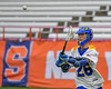 Cazenovia Lakers Jake Lewis (26) passing the ball against the LaFayette Lancers in Section III Boys Class C Lacrosse Championship action at the Carrier Dome in Syracuse, New York on Saturday, May 28, 2016.  Cazenovia won 11-9.