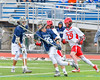 Webster Thomas Titans Joe Carey (35) with the ball against the Jamesville-Dewitt Red Rams in NYSPHSAA Boys Class B Lacrosse Semifinals action at Bragman Stadium in Cicero, New York on Wednesday, June 8, 2016.  Jamesville-Dewitt won 13-9.