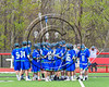 Cicero-North Syracuse Northstars huddle up before playing the Baldwinsville Bees in Section III Boys Lacrosse action at the Pelcher-Arcaro Stadium in Baldwinsville, New York on Thursday, April 27, 2017.