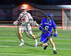Cicero-North Syracuse Northstars Tom Flynn (6) with the puck against the Baldwinsville Bees in Section III Boys Lacrosse action at the Pelcher-Arcaro Stadium in Baldwinsville, New York on Thursday, April 27, 2017.  Baldwinsville won 15-8.