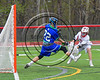 Baldwinsville Bees Spencer Wirtheim (10) shoots the ball past Cicero-North Syracuse Northstars goalie Brian Jobin (22) for a goal in Section III Boys Lacrosse action at the Pelcher-Arcaro Stadium in Baldwinsville, New York on Thursday, April 27, 2017.  Baldwinsville won 15-8.