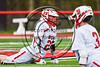 Baldwinsville Bees Matt Dickman (23) during pre-game warm ups before playing the Auburn Maroons in a Section III Boys Lacrosse game at the Pelcher-Arcaro Stadium in Baldwinsville, New York on Saturday, April 29, 2017.