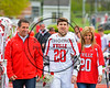 Baldwinsville Bees Varisty Lacrosse team celebrated Senior Night with Ryan Gebhardt (20) at the Pelcher-Arcaro Stadium in Baldwinsville, New York on Tuesday, May 2, 2017.