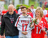 Baldwinsville Bees Varisty Lacrosse team celebrated Senior Night with Jason Dobek (17) at the Pelcher-Arcaro Stadium in Baldwinsville, New York on Tuesday, May 2, 2017.