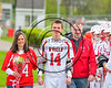 Baldwinsville Bees Varisty Lacrosse team celebrated Senior Night with Matthew Baker (14) at the Pelcher-Arcaro Stadium in Baldwinsville, New York on Tuesday, May 2, 2017.