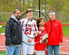 Baldwinsville Bees Varisty Lacrosse team celebrated Senior Night with Matt Dickman (23) at the Pelcher-Arcaro Stadium in Baldwinsville, New York on Tuesday, May 2, 2017.
