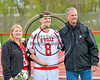 Baldwinsville Bees Varisty Lacrosse team celebrated Senior Night for Joshua Stanton (8) at the Pelcher-Arcaro Stadium in Baldwinsville, New York on Tuesday, May 2, 2017.