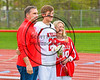 Baldwinsville Bees Varisty Lacrosse team celebrated Senior Night with Kyle Pelcher (29) at the Pelcher-Arcaro Stadium in Baldwinsville, New York on Tuesday, May 2, 2017.