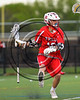 Baldwinsville Bees Spencer Wirtheim (10) with the ball against the West Genesee Wildcats in Section 3 Boys Lacrosse action at Mike Messere Field in Camillus, New York on Thursday, May 11, 2017.  West Genesee won 10-5.