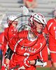 Baldwinsville Bees Nathan Redmond (3) wearing Beads of Courage in support of Maureen's Hope Foundation before playing the Cicero-North Syracuse Northstars in a Section 3 Boys Lacrosse game at Michael Bragman Stadium in Cicero, New York on Tuesday, May 16, 2017.