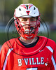 Baldwinsville Bees Justin Hunter (7) wearing Beads of Courage in support of Maureen's Hope Foundation before playing the Cicero-North Syracuse Northstars in a Section 3 Boys Lacrosse game at Michael Bragman Stadium in Cicero, New York on Tuesday, May 16, 2017.