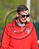 Baldwinsville Bees Assistant Coach Andy Lamb wearing Beads of Courage in support of Maureen's Hope Foundation before playing the Cicero-North Syracuse Northstars in a Section 3 Boys Lacrosse game at Michael Bragman Stadium in Cicero, New York on Tuesday, May 16, 2017.