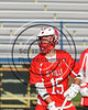 Baldwinsville Bees Austin Bolton (15) wearing Beads of Courage in support of Maureen's Hope Foundation before playing the Cicero-North Syracuse Northstars in a Section 3 Boys Lacrosse game at Michael Bragman Stadium in Cicero, New York on Tuesday, May 16, 2017.