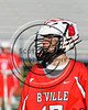 Baldwinsville Bees Jason Dobek (17) wearing Beads of Courage in support of Maureen's Hope Foundation before playing the Cicero-North Syracuse Northstars in a Section 3 Boys Lacrosse game at Michael Bragman Stadium in Cicero, New York on Tuesday, May 16, 2017.