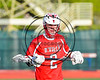 Baldwinsville Bees Tanner McCaffery (2) wearing Beads of Courage in support of Maureen's Hope Foundation before playing the Cicero-North Syracuse Northstars in a Section 3 Boys Lacrosse game at Michael Bragman Stadium in Cicero, New York on Tuesday, May 16, 2017.