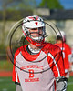 Baldwinsville Bees Matthew Baker (14) wearing Beads of Courage in support of Maureen's Hope Foundation before playing the Cicero-North Syracuse Northstars in a Section 3 Boys Lacrosse game at Michael Bragman Stadium in Cicero, New York on Tuesday, May 16, 2017.