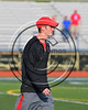 Baldwinsville Bees Head Coach Matt Wilcox wearing Beads of Courage in support of Maureen's Hope Foundation before playing the Cicero-North Syracuse Northstars in a Section 3 Boys Lacrosse game at Michael Bragman Stadium in Cicero, New York on Tuesday, May 16, 2017.