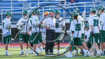 Fayetteville-Manlius Hornets Head Coach Chris Kenneally during a timeout against the Baldwinsville Bees in Section III Class A Semifinals Boys Lacrosse action at Michael Bragman Stadium in C ...