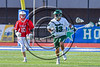 Fayetteville-Manlius Hornets Tommy Angelicola (13) with the ball against the Baldwinsville Bees in Section III Class A Semifinals Boys Lacrosse action at Michael Bragman Stadium in Cicero, New York on Tuesday, May 23, 2017.  Baldwinsville won 9-8 in OT.