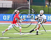 West Genesee Wildcats Marcus Hudgins (11) with the ball avoiding Baldwinsville Bees Spencer Wirtheim (10) in Section III Class A Finals Boys Lacrosse action at Michael Bragman Stadium in Cicero, New York on Thursday, May 25, 2017.  Baldwinsville won 9-8.