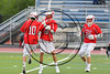 Baldwinsville Bees Spencer Wirtheim (10) celebrates his goal against goal against the West Genesee Wildcats in Section III Class A Finals Boys Lacrosse action at Michael Bragman Stadium in Cicero, New York on Thursday, May 25, 2017.  Baldwinsville won 9-8.