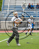 West Genesee Wildcats goalie Luke Staudt (24) passing the ball against the Baldwinsville Bees in Section III Class A Finals Boys Lacrosse action at Michael Bragman Stadium in Cicero, New York on Thursday, May 25, 2017.  Baldwinsville won 9-8.