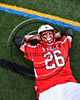 Baldwinsville Bees Michael Tangredi (26) getting worked on before playing the West Genesee Wildcats in the Section III Class A Finals Boys Lacrosse game at Michael Bragman Stadium in Cicero, New York on Thursday, May 25, 2017.