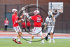 Baldwinsville Bees Ryan Gebhardt (20) celebrates his goal against the West Genesee Wildcats in Section III Class A Finals Boys Lacrosse action at Michael Bragman Stadium in Cicero, New York on Thursday, May 25, 2017.  Baldwinsville won 9-8.