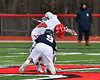 Baldwinsville Bees Jake Walsh (4) facing off against the Pittsford Panthers in Section III Boys Lacrosse action at the Pelcher-Arcaro Stadium in Baldwinsville, New York on Saturday, April 7, 2018.  Baldwinsville won 14-6.