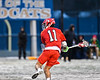 Baldwinsville Bees Cole Peters (11) winds up for a shot against the West Genesee Wildcats in Section III Boys Lacrosse action at Mike Messere Field in Camillus, New York on Tuesday, April 17, 2018.  Baldwinsville won 8-7.