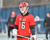 Baldwinsville Bees Connor Steria (16) before playing the West Genesee Wildcats in a Section III Boys Lacrosse game at Mike Messere Field in Camillus, New York on Tuesday, April 17, 2018.