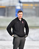 Baldwinsville Bees Assistant Coach Andy Lamb watching his defensemen going through drills before playing the West Genesee Wildcats in a Section III Boys Lacrosse game at Mike Messere Field in Camillus, New York on Tuesday, April 17, 2018.