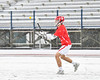 Baldwinsville Bees Ben Dwyer (5) passing the ball against the Cicero-North Syracuse Northstars in Section III Boys Lacrosse action at Michael Bragman Stadium in Cicero, New York on Thursday, April 19, 2018.  Baldwinsville won 9-6.