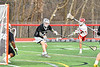 Baldwinsville Bees Spencer Wirtheim (10) shoots and scores against the Syracuse Cougars in Section III Boys Lacrosse action at the Pelcher-Arcaro Stadium in Baldwinsville, New York on Tuesday, May 1, 2018.  Baldwinsville won 15-3.