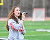 Baldwinsville Bees student sang the National Anthem before a Section III Boys Lacrosse game at the Pelcher-Arcaro Stadium in Baldwinsville, New York on Tuesday, May 1, 2018.