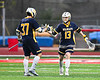 West Genesee Wildcats Max Rosa (13) celebrates his goal against the Baldwinsville Bees in Section III Boys Lacrosse action at the Pelcher-Arcaro Stadium in Baldwinsville, New York on Thursday, May 3, 2018.  West Genesee won 15-6.