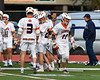 Liverpool Warriors Jacob Fahey (11) being introduced before playing the Baldwinsville Bees in a Section III Boys Lacrosse game at Liverpool High School Stadium in Liverpool, New York on Thursday, May 10, 2018.