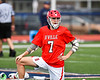 Baldwinsville Bees Justin Hunter (7) warming up before playing the Liverpool Warriors in a Section III Boys Lacrosse game at Liverpool High School Stadium in Liverpool, New York on Thursday, May 10, 2018.